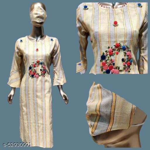 Indrani Fashionable long Handwork Cotton Kurti