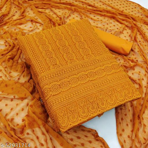 Evtifa Chikankari Embroidered Unstitched Dress Material