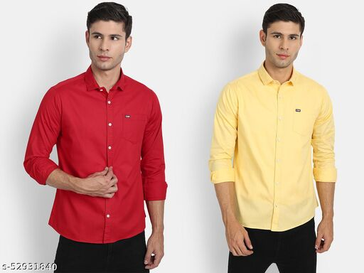 UNITED CLUB MEN'S CASUAL SHIRT PACK OF 2