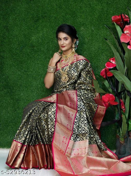 UA CREATION Royal Kanan Kanchipuram Handloom Weaving Silk Saree