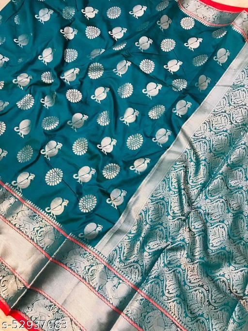 UA CREATION Rajghrana-2 Lichi Silk With Wiving Silver Zari Saree