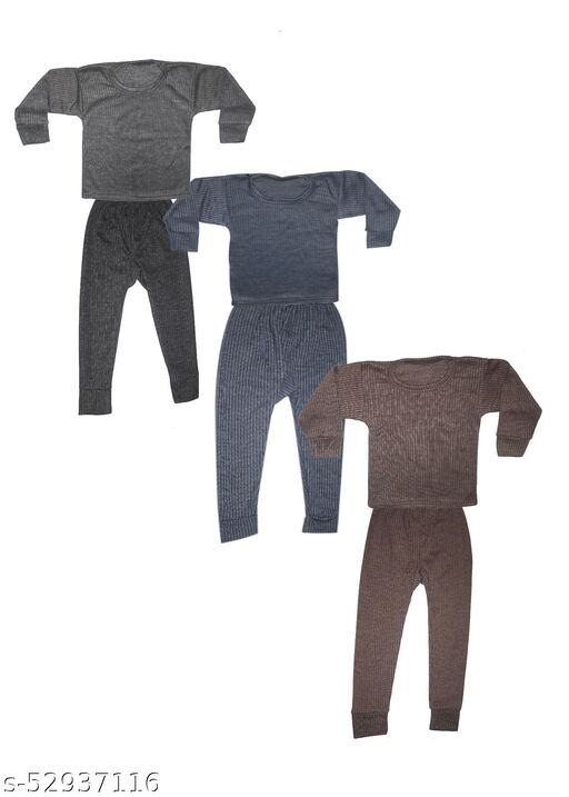 purely nature kids thermal top and pajama set (Pack of 3)