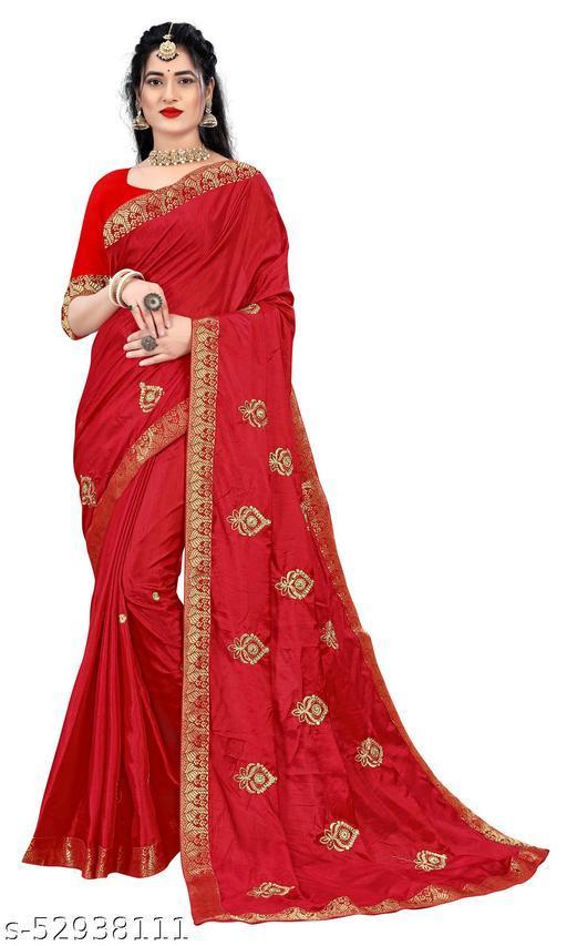 Padmalata Creation Red  Saree With Designer Border.