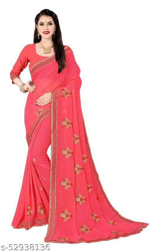 Padmalata Creation Dark Pink  Saree With Designer Border.