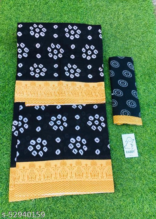 Women Pure Cotton Bandhani Saree