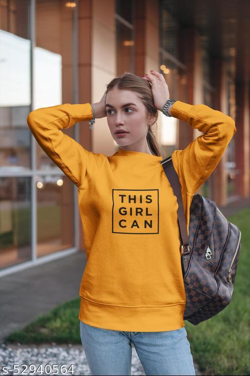 THIS GIRL CAN logo sweatshirt