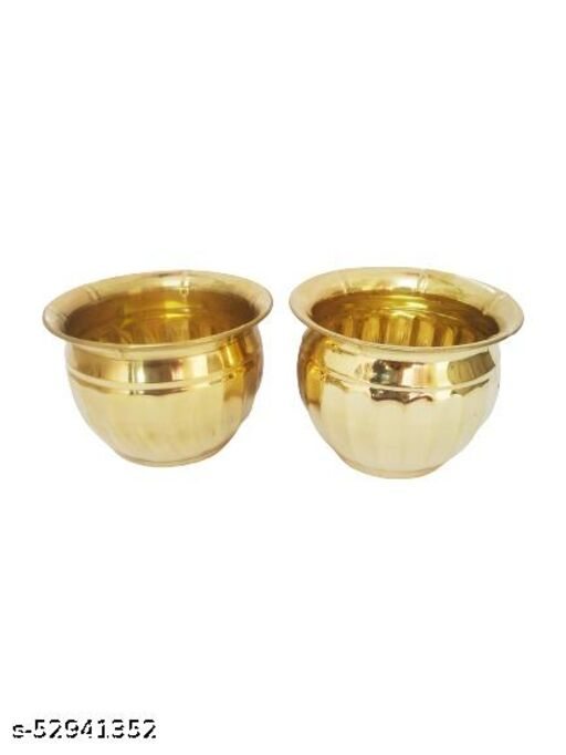 Brass POT Set of Two