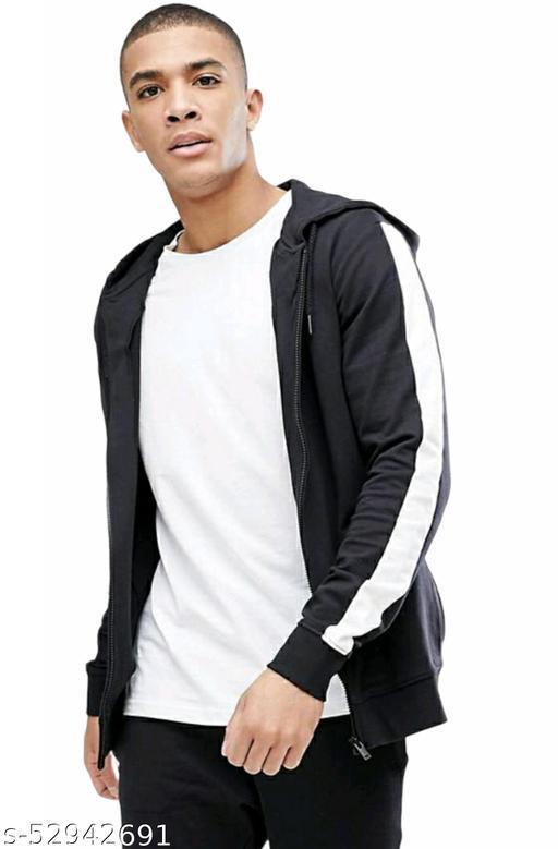 Men's Full Sleeves Stripe Zipper Jacket
