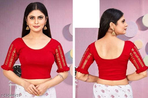 TEEN-PATTI Design Stretchable READY MADE BLOUSE