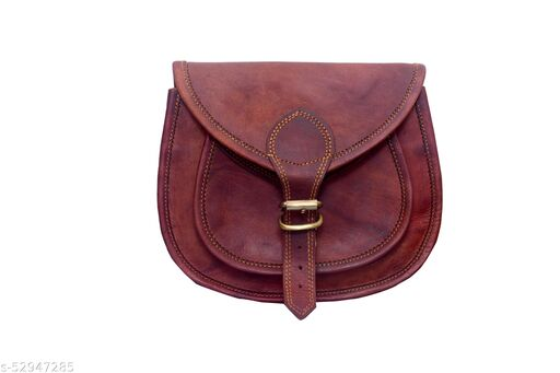 """LLB Leather Arts Leather Sling Bags for Women 11""""  (02)"""