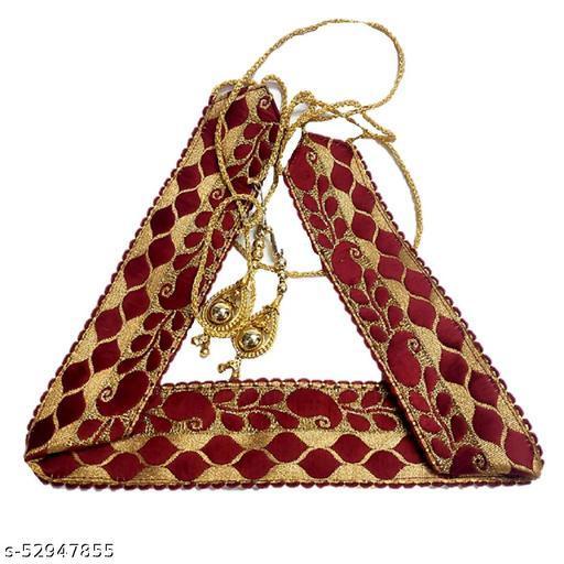 Designer Zari Embellished Golden Wedding Saree Belt, Kamarbandh, Waist Chain for Women & Girls Wedding Belt