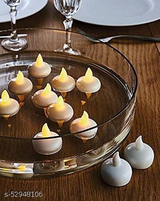 LED Nugget Shaped Candles with Water Sensor ( pack of 6 ) Diwali Lightings