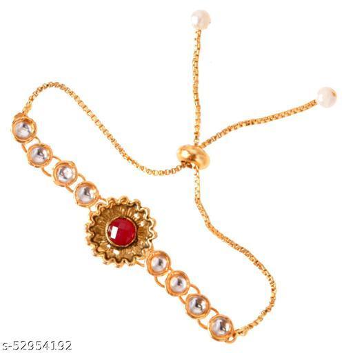 Om jewels Gold Plated Fancy Designe Bracelet For Women Girl