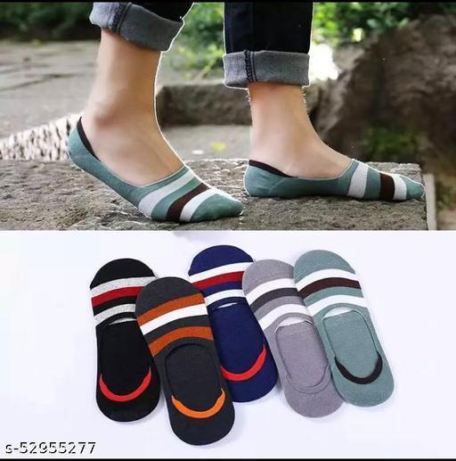 Unisex Anti-Slip Cottan Loafer Socks (MultiColour) Pack Of 6