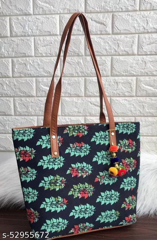 ikat Cotton Material Tote Bag  Big Size Double Compartment Upper Zip Mouth Long Shoulder Handel Inside & Backside Zip All New Prints