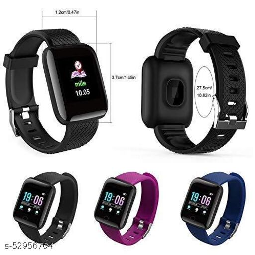 Bluetooth Smart Fitness Band Watch with Heart Rate Activity Tracker Waterproof Body, Step and Calorie Counter, Blood Pressure, OLED Touchscreen for Men / Women