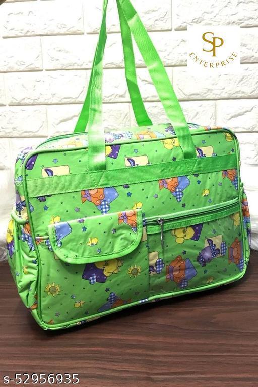 Mummy Bag Travel Shoulder Bag Front Pocket And Zip Both Side Bottle Compartment Good Quality