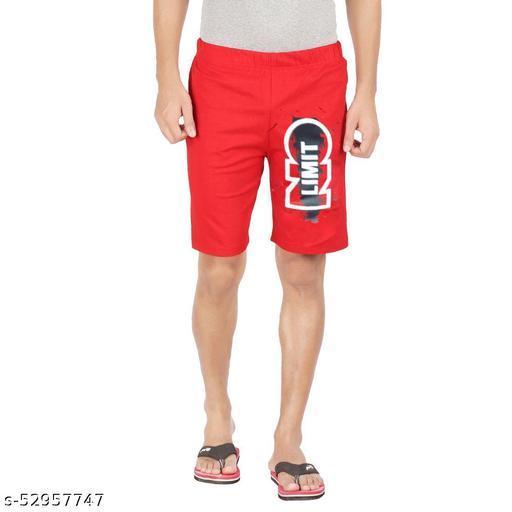 Hotfits Men Stylish red cotton shorts