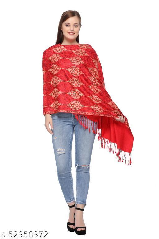Kti Viscose Embroidered Winter Women Shawl