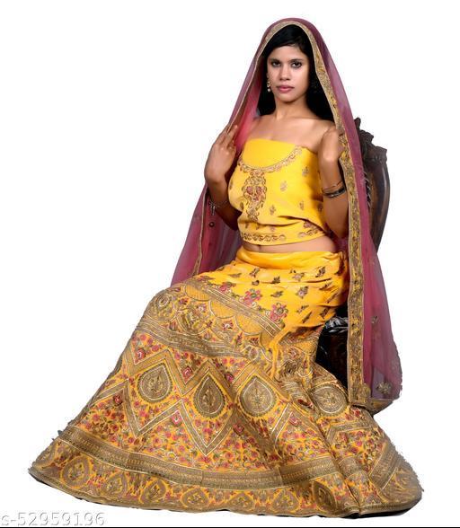 CLEITA Luxurious Designer Lehenga Choli set with Dupatta.
