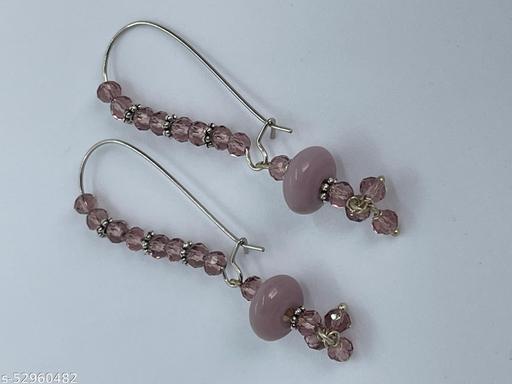 Bonita's Designer Purple Earring with Stone Drops