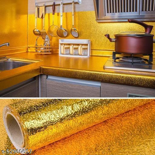 kitchen sticker oil proof | kitchen slab stickers waterproof | kitchen platform cover border wall stickers