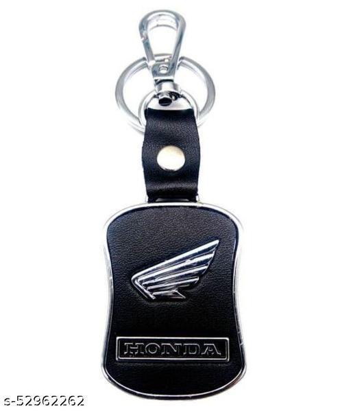 Americ Style Honda Leather Metal Hook Locking Key Chain