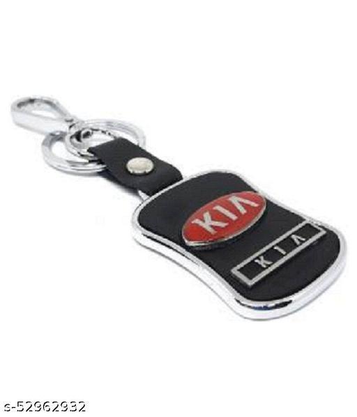 Americ Style K I A Leather Metal Hook Locking Key Chain