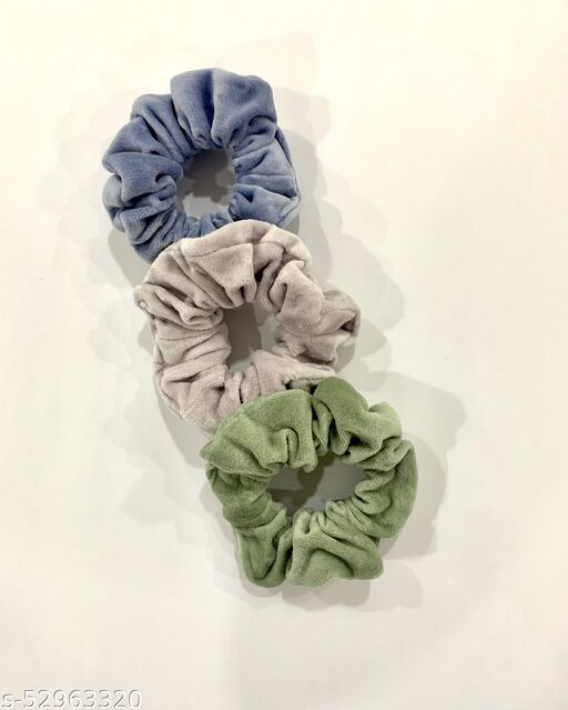 Velvet Scrunchies (Pack of 3)