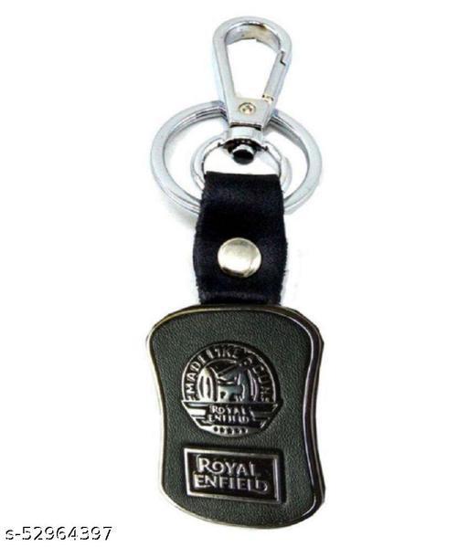 Americ Style Royal Enfield Logo with Chrome Metal Locking Key Chain