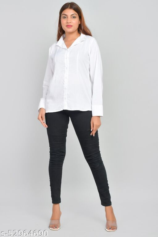 STYLES PURE RAYON WHITE SHIRT FOR WOMEN AND GIRL