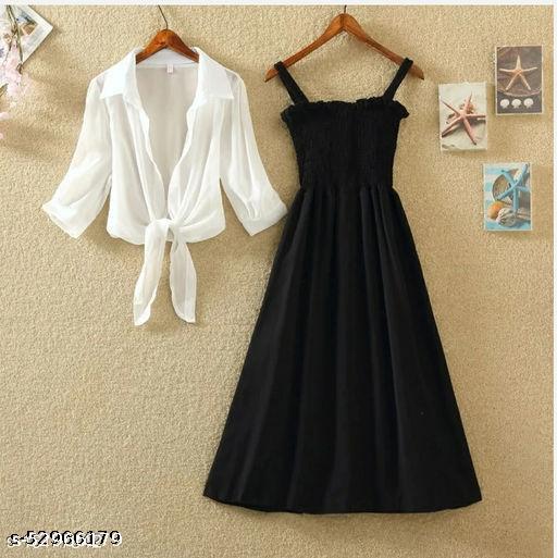 BLACK FENCY WOMEN DRESS