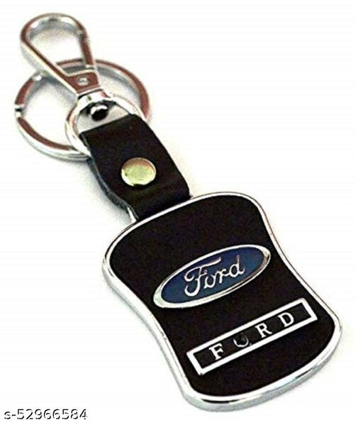 Americ Style Ford Leather Metal Hook Locking Key Chain