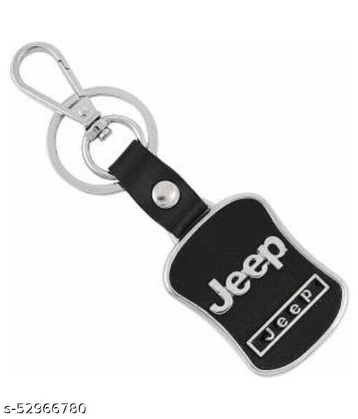 Americ Style Jeep Leather Metal Hook Locking Key Chain