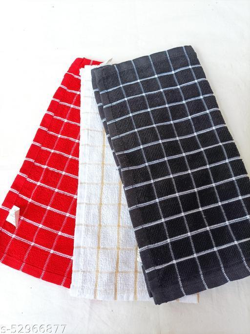 Terrycloth Handkerchiefs. Pack of 3.