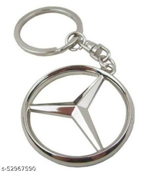 Americ Style Mercedes Benz Logo Full Metal Key Chain  (Silver)
