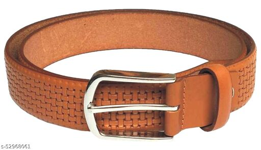 Mens/Gents/Boys Genuine Original Leather Belt   Formal/Casual   Brown/Black/Tan Colour   28 to 44 Sizes   1 Year Warranty