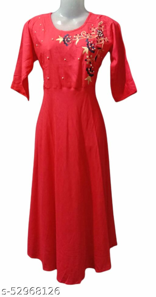 girls cotton frock suit gown
