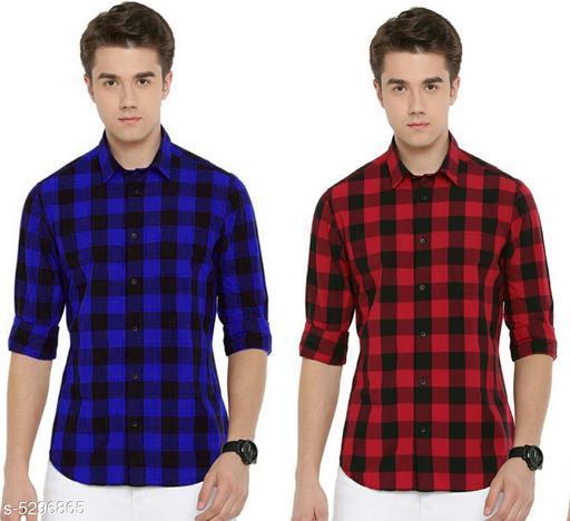 Elite Elegant Men's Shirts Combo (Pack Of 2)