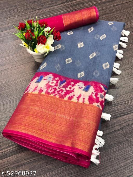 Dhra Creation Present Cotton Saree With Blouse.