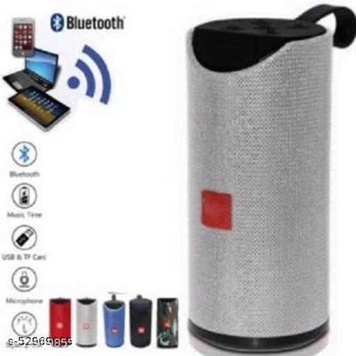 TG-113 Premium Shockproof & Bluetooth Speaker C1 10 W Bluetooth Speaker,  Super deep Bass Wireless Rechargeable dj Sound Bluetooth Speaker Support TF/USB/Pen Drive/AUX, Free Charging Cable, Hot Deal Speaker(Grey, Stereo Channel)