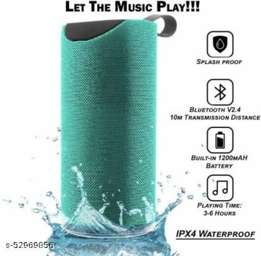 TG-113 10 Watt Wireless Bluetooth Portable Speaker (Multicolour)