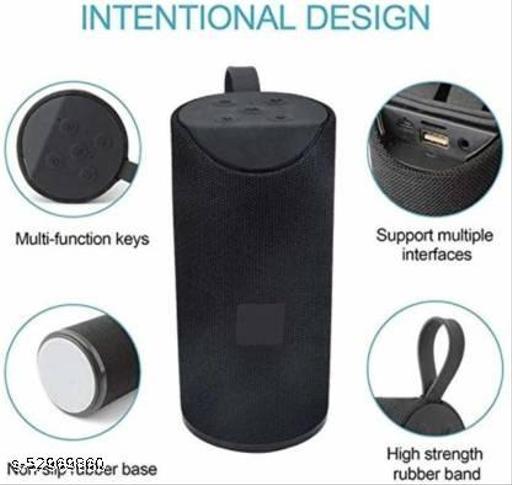 Good quality sound bluetooth Speaker 01 piece, Shockproof & Bluetooth Speaker C1 10 W Bluetooth Speaker  (TG-113, Black)