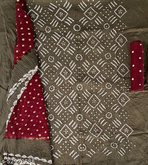 bandhni dress material