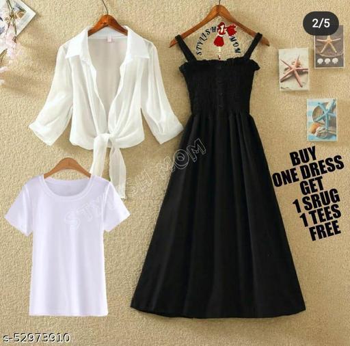 midi dress with srug and teeshirt