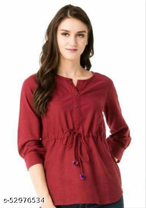 Fashionable cotton blend top