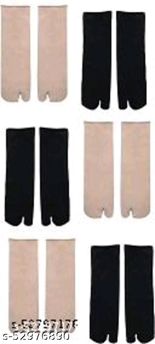 Velvet Winter Thermal Thumb Socks For Women & Girls (Multi-Color, Pack of 6 Pairs)