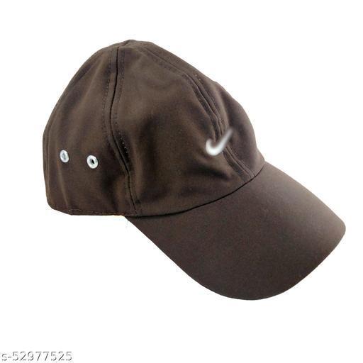 Men's Women's All-Purpose Outdoor Super Sports Cap (Brown) Pack of 1