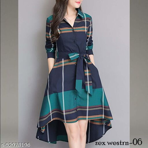 Western Dress for Women and Girl  poly Rayon