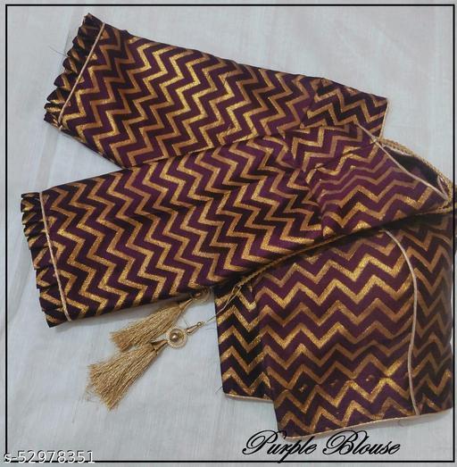 Zigzag Blouse zari weaving